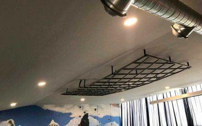 Así de bonito luce el nuevo techo del Salón Polivalente de La Casa